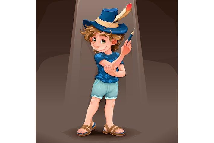 Thumbnail for Маг ребенка с голубой шляпой