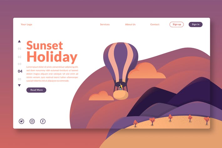 Thumbnail for Sunset Holidays - Landing Page GR