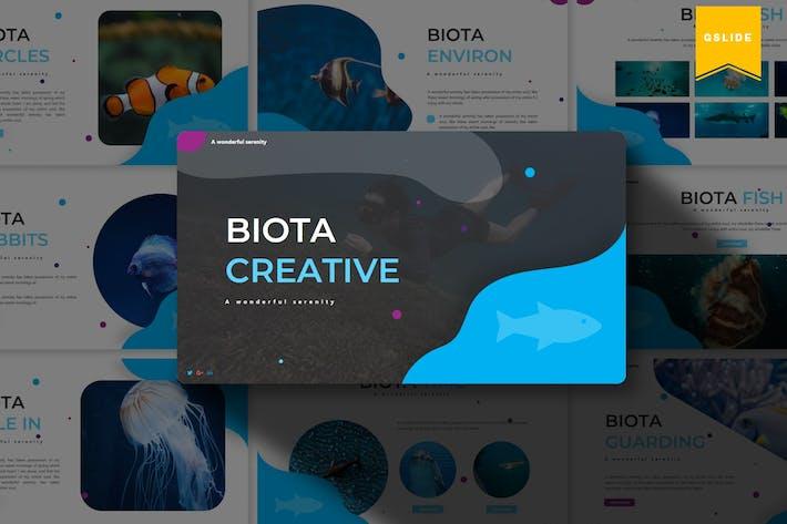 Thumbnail for Biota   Google Slides Template