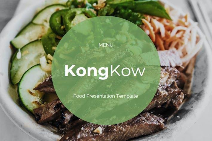 Kongkow — Шаблон Keynote продуктов питания