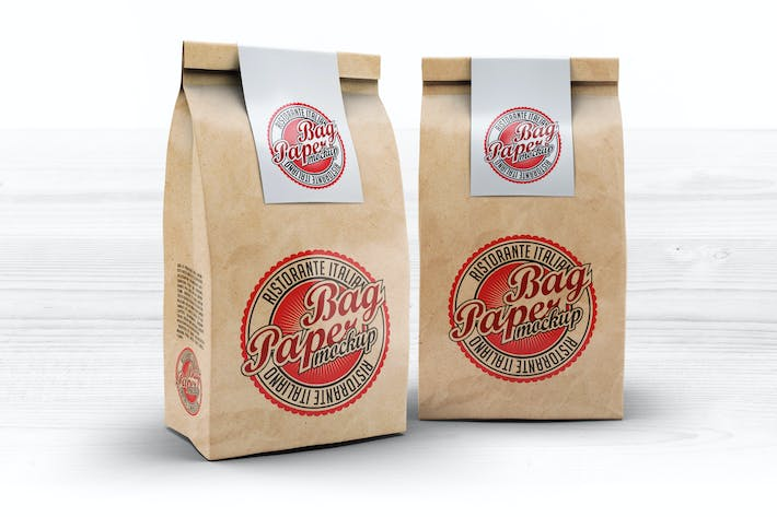 Cover Image For Paper Bag Mock-Up