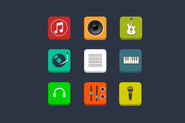 Thumbnail for 9 Music and Audio Icons