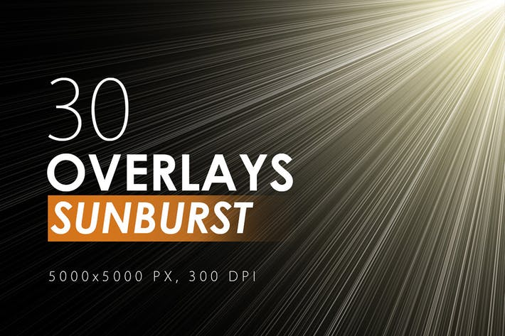 Cover Image For 30 Sunburst Overlays