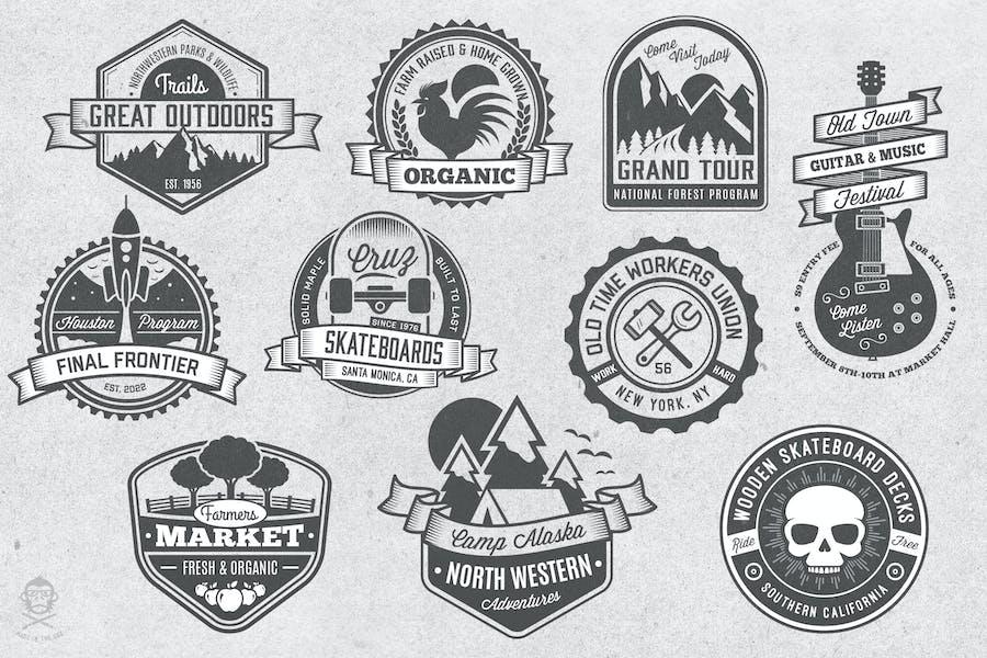 Vintage-Stil Abzeichen und Logos