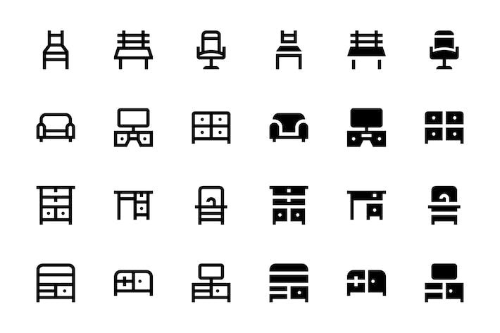 Thumbnail for 44 Furniture Icons