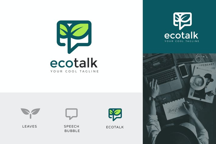 Thumbnail for Eco Talk Corporate Logo Vector Template