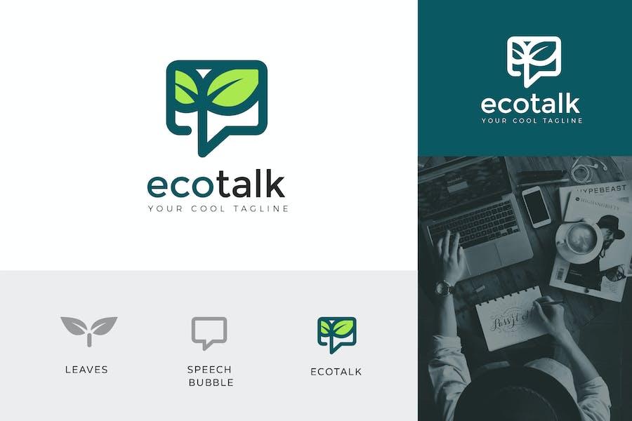 Eco Talk Corporate Logo Vector Template