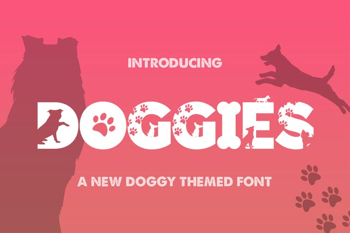 Thumbnail for Doggies Silhouette Font