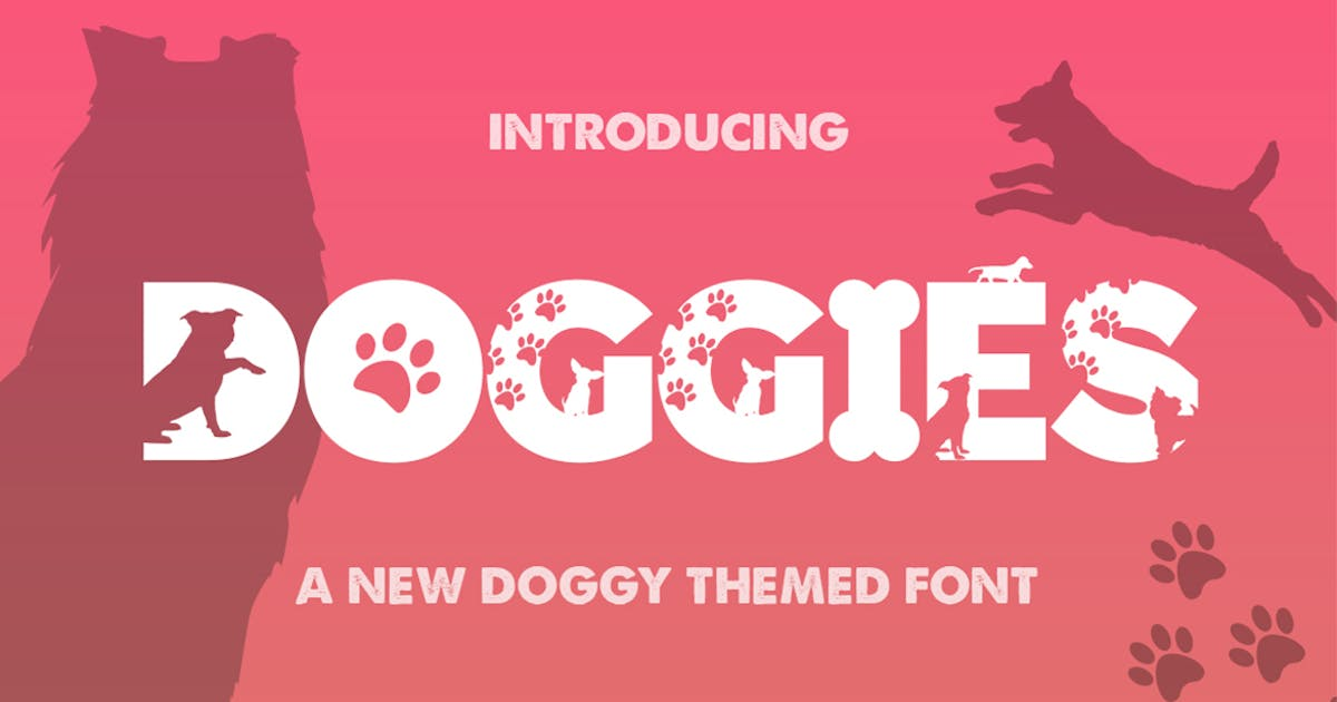 Download Doggies Silhouette Font by maroonbaboon