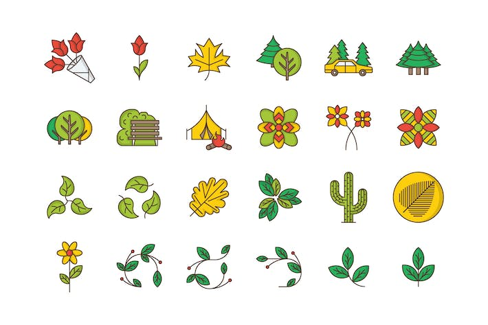 Thumbnail for 35 Nature & Outdoors Icons