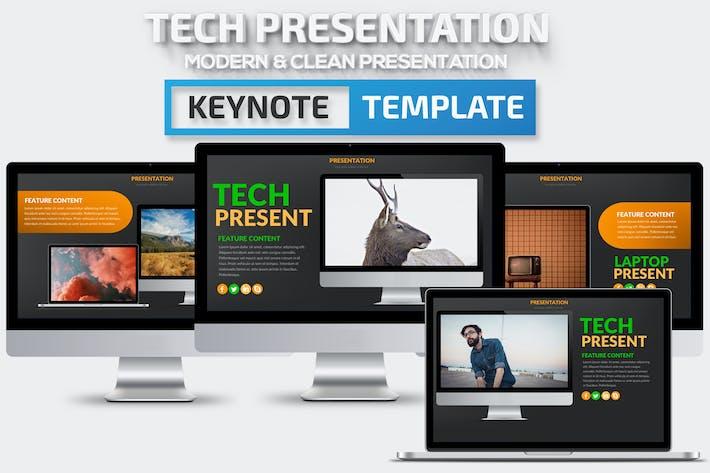 Thumbnail for Tech Keynote Presentation Template