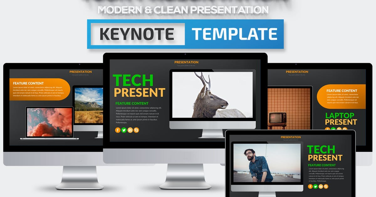 Download Tech Keynote Presentation Template by mamanamsai