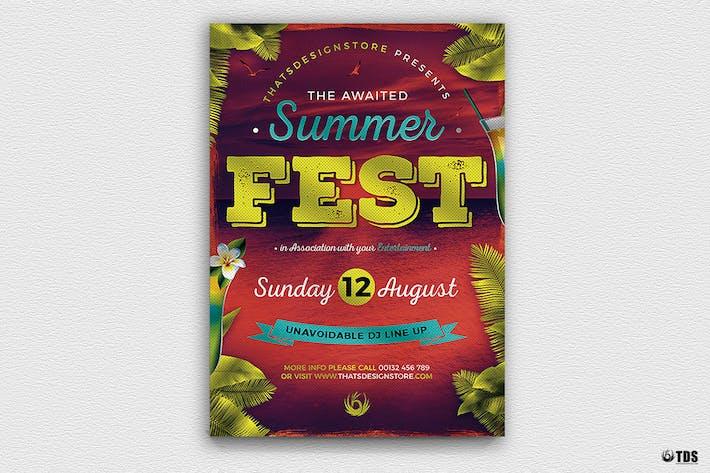 Thumbnail for Summer Festival Flyer Template