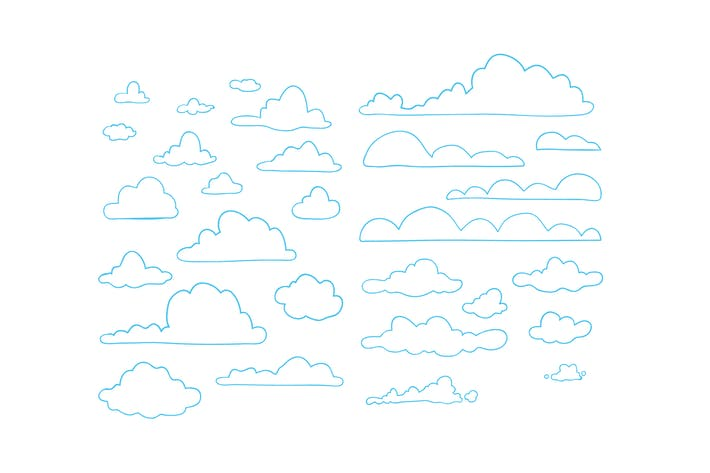 Thumbnail for Hand drawn clouds pack