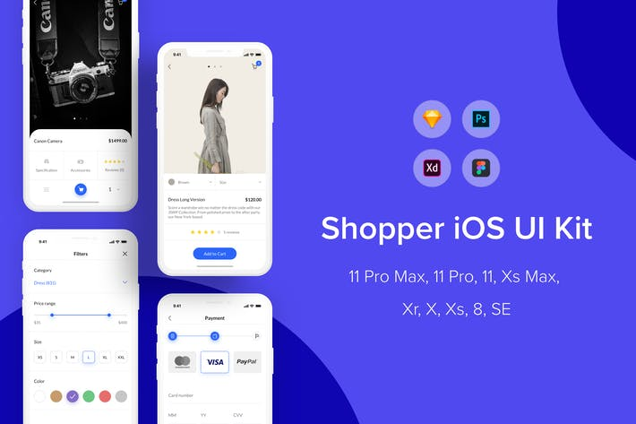 Thumbnail for Покупатель iOS UI Kit