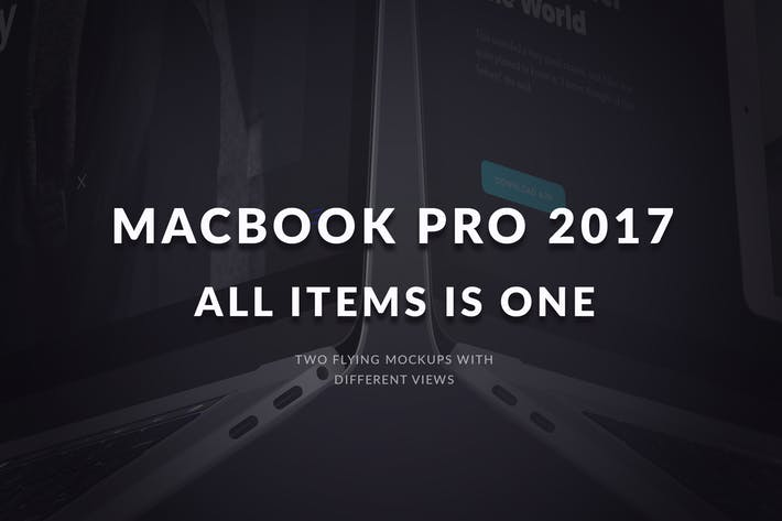 Thumbnail for All MacBook Pro 2017 Flying Mockups
