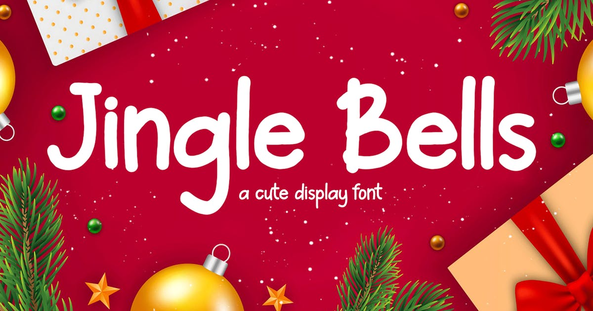 Download Jingle Bells - Cute Display Font by CocoTemplates