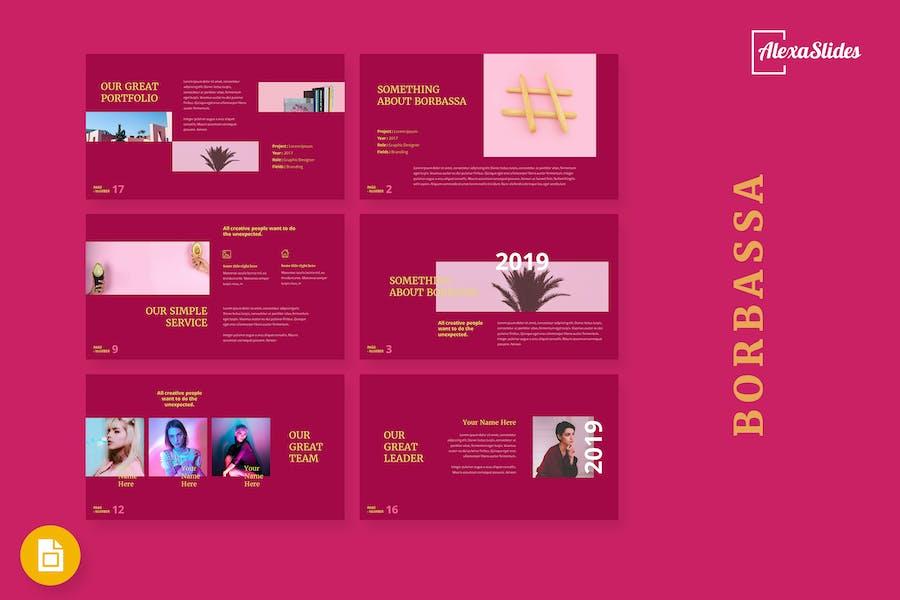 Borbarossa - Fashion Google Slides Template