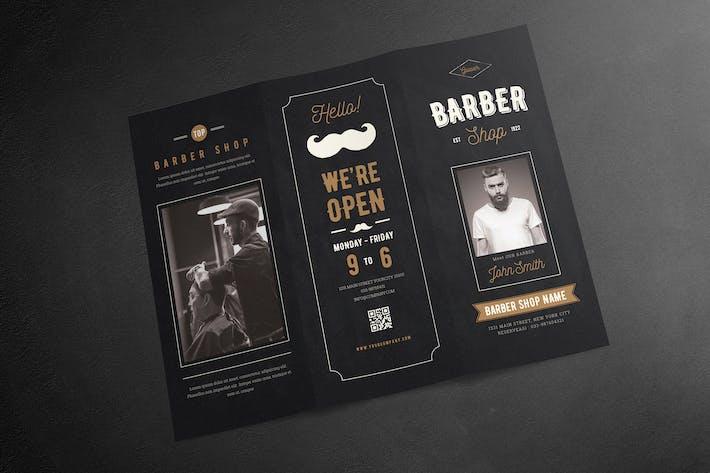 Cover Image For Blackboard Trifold Barbershop Brochure