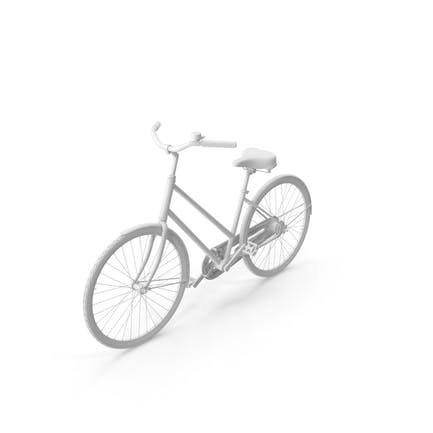 Окрашенный винтажный велосипед