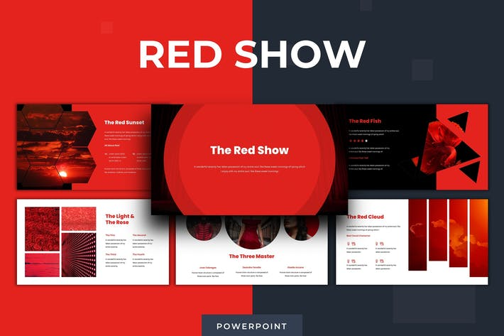 Thumbnail for The Red Show - Powerpoint Template