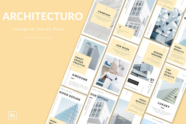 Thumbnail for Architecturo - Instagram Story Pack