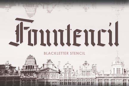 Fountencil - Plantilla de letras negras