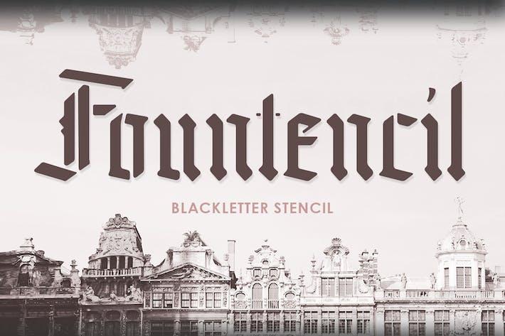 Fontencil - Pochoir à lettres noires