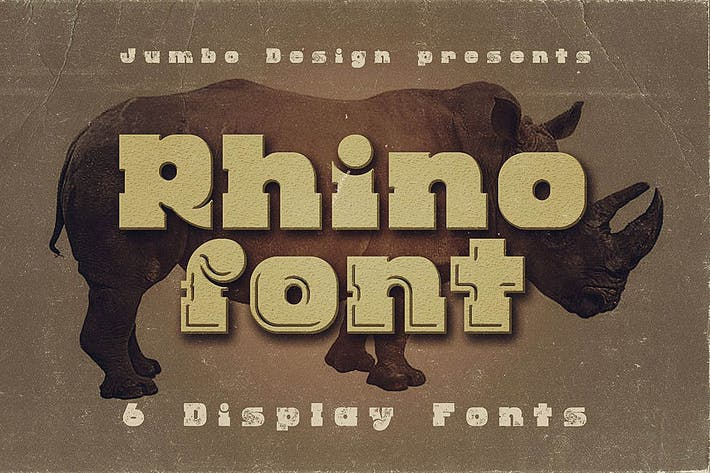 Thumbnail for Rhino - Display Font