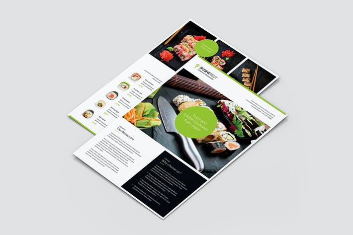 Cover Image For Flyer – Sushi Restaurant