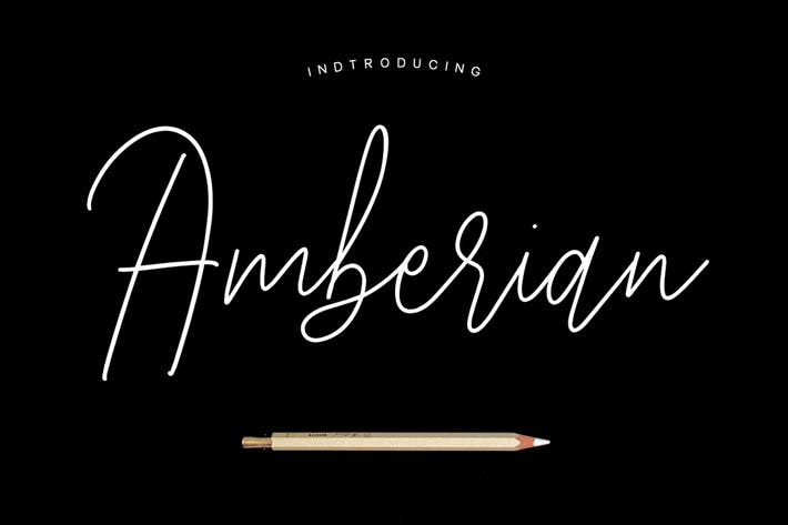 Thumbnail for Amberian Font Signature
