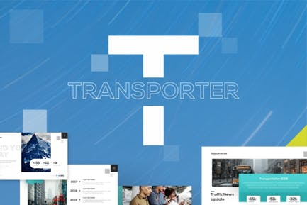 Transporter Transportation PowerPoint Template