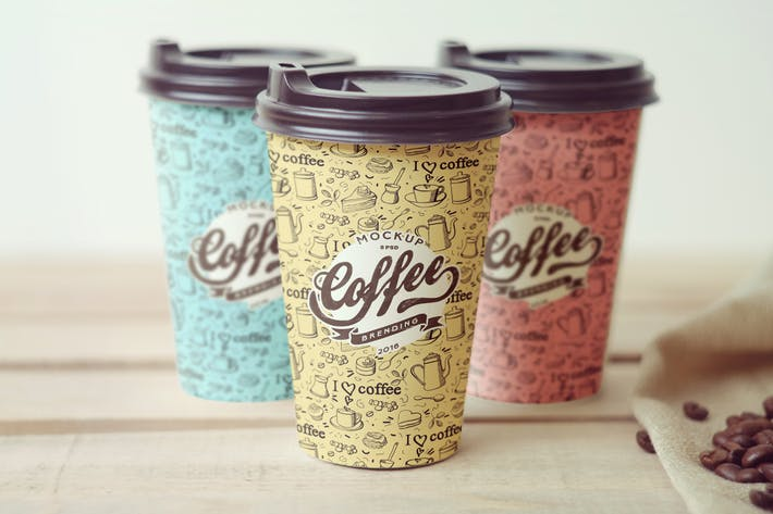 Thumbnail for Coffee Cup Branding Mockup
