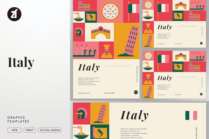 Thumbnail for Italy graphic templates