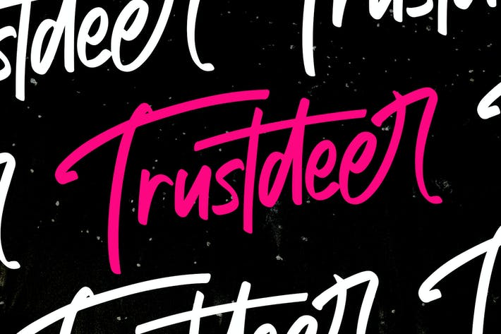 Thumbnail for Trustdeer Handbrush Font
