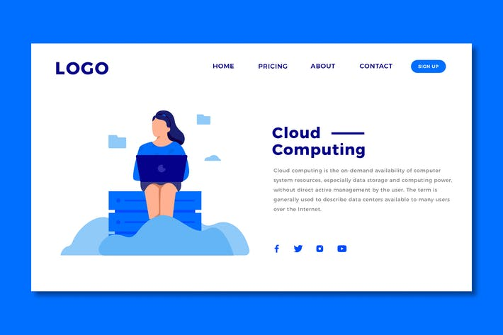 Thumbnail for Cloud Computing - Landing Page Template
