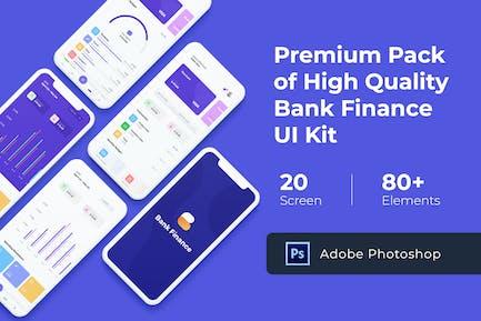 Bank Finance UI KIT for Photoshop