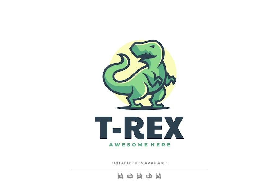 T - Rex Simple Mascot Logo