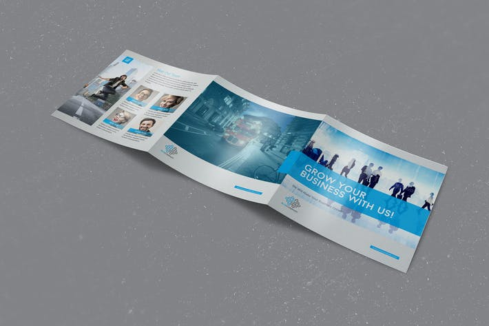 Thumbnail for Blue Corporate Square Trifold