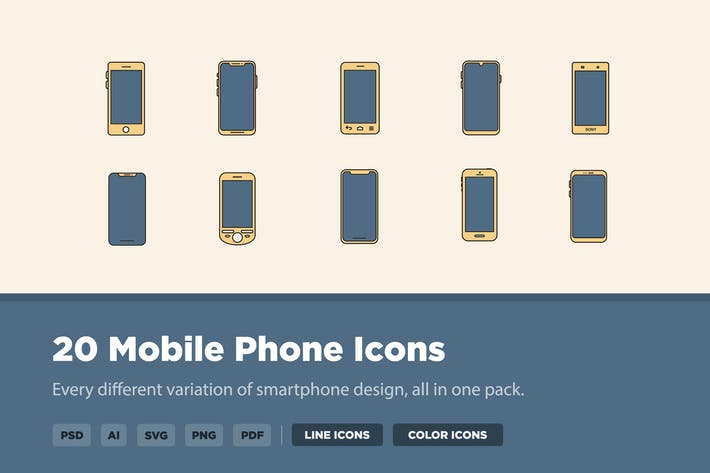 Thumbnail for 20 Mobile Phone Icons