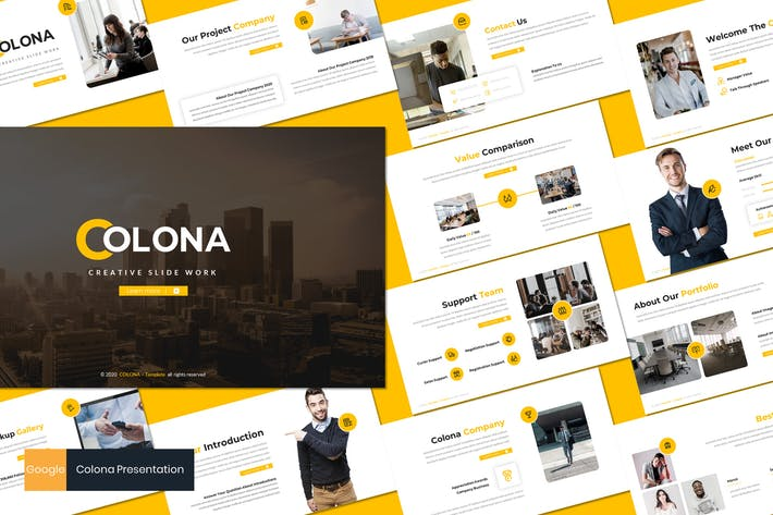 Thumbnail for Colona - Business Google Slides Template