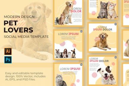 Plantilla de redes sociales para mascotas
