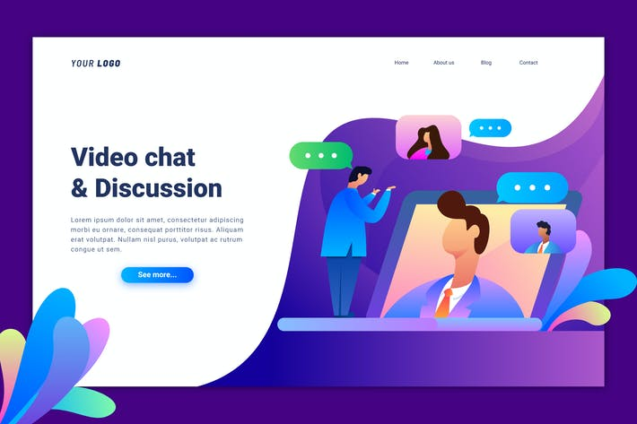 Thumbnail for Video Chat Landing Page