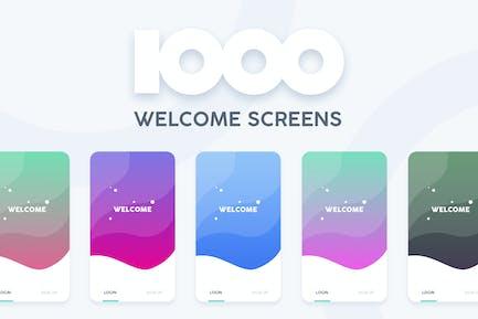 1000 Welcome Login Screens