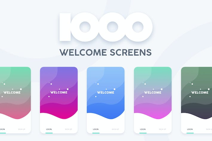 Thumbnail for 1000 Welcome Login Screens