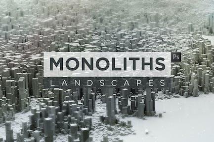 Monolithen Landschaften