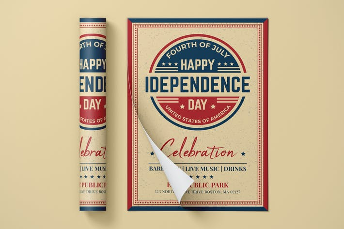 Thumbnail for USA Independence Day Flyer/Poster Template