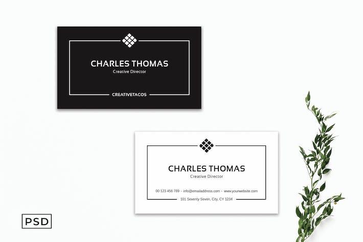 Elegant Minimal Business Card Template V2