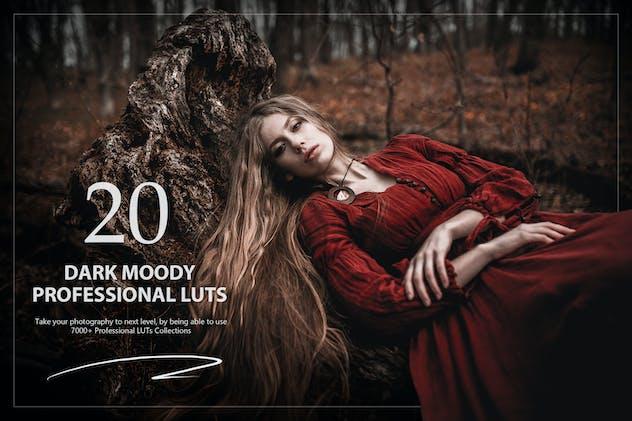20 Dark Moody LUTs Pack