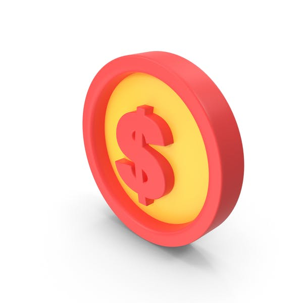 Money Icon Red and Yellow
